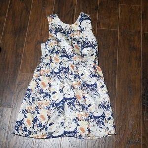 Pim + Larkin white blue yellow floral dress large